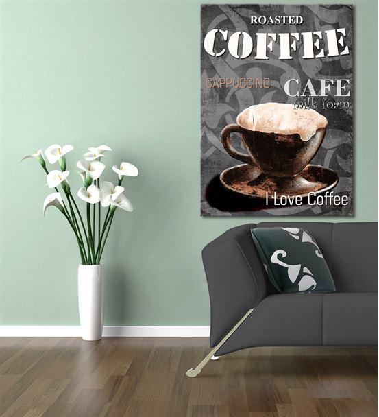 Vintage Coffee Kanvas Tablo 35x50cm