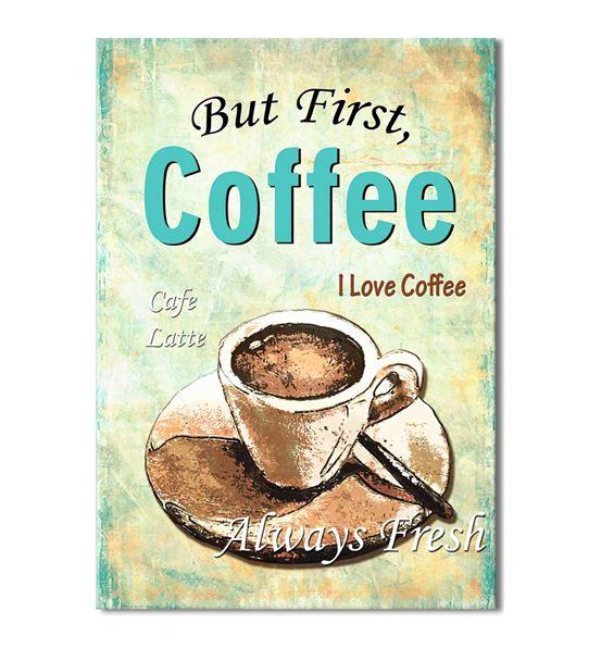 Vintage Coffee Latte 20x30 cm Kanvas Tablo
