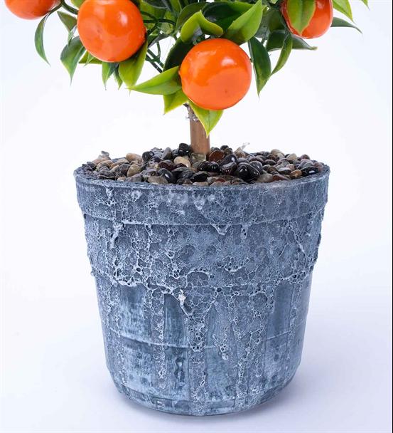 Yapay Mandalina Ağacı Seramik Saksı