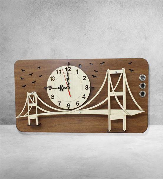 Yeni İş Hediyesi İstanbul Boğaz Köprüsü Duvar Saat