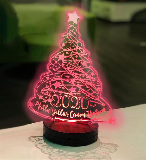 Yılbaşı Ağacı 3d Led Gece Lambası