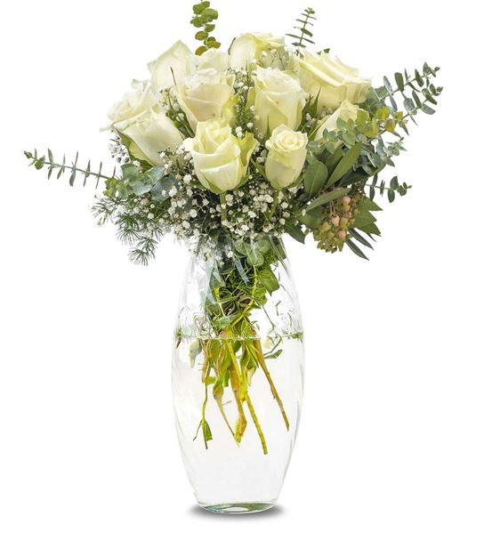Zarif Vazoda 11 Beyaz Güller