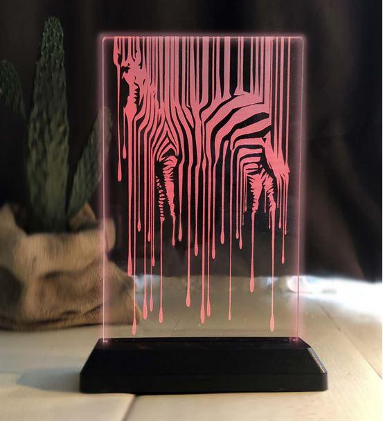 Zebra Desenli Led Gece Lambası