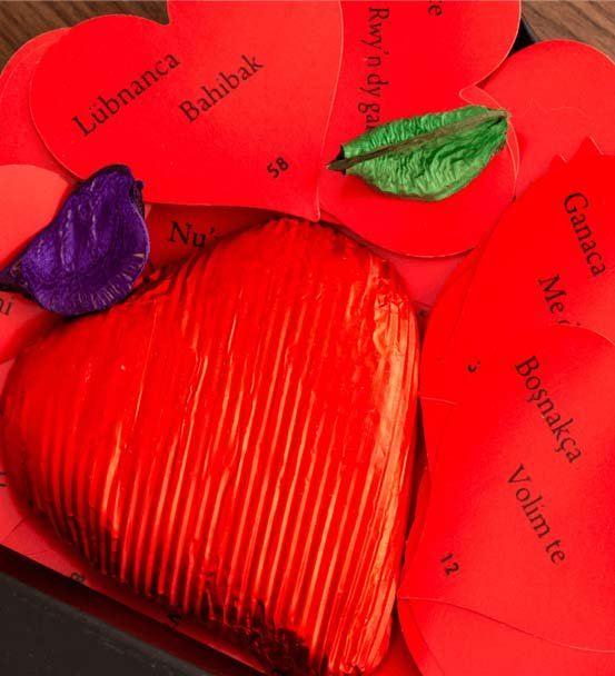 100 Dilde Seni Seviyorum Mesaj Kartları
