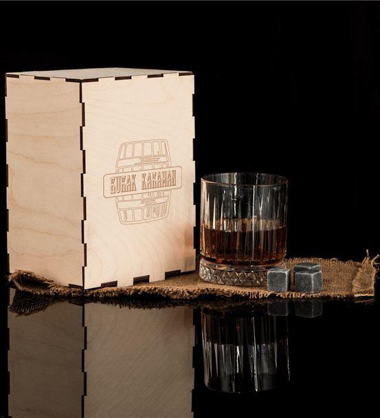 Ahşap Kutulu Glasgow Viski Kadeh Seti