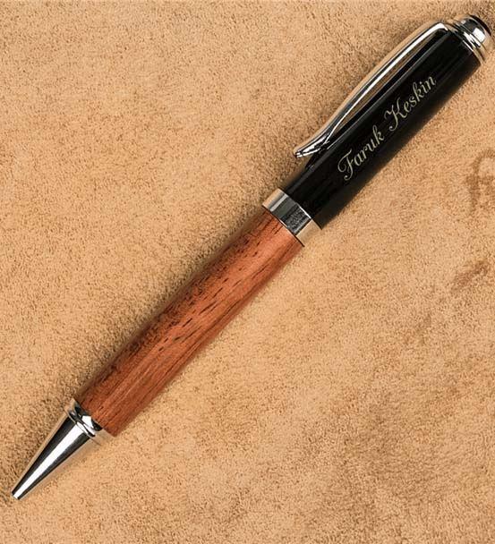 Ahşap Kutulu Kişiye Özel İkili Kalem Seti