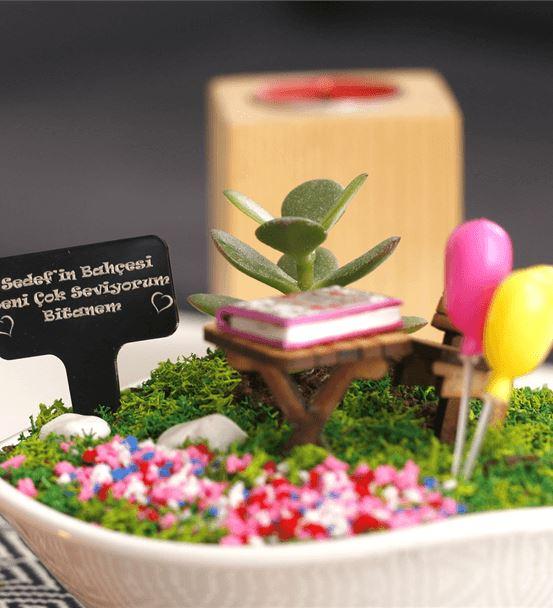 İlk Sevgililer Gününe Özel Minyatür Bahçe