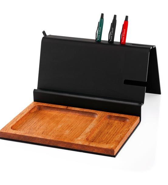 İmza Tasarımlı 3 Kalemli Masaüstü Düzenleyici