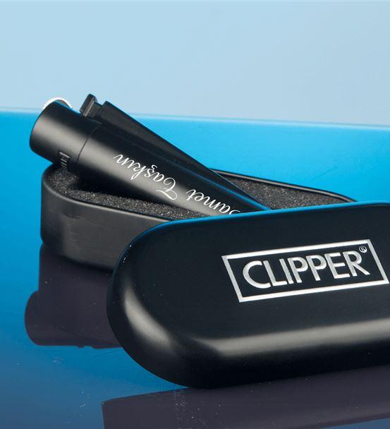 İsme Özel Siyah Clipper Metal Çakmak
