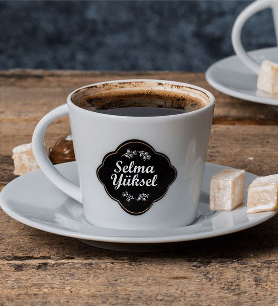 Kişiye Özel Türk Kahve Fincanı Seti
