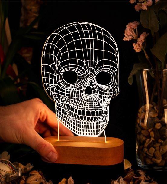 Kurukafa Tasarımlı 3D Led Lamba