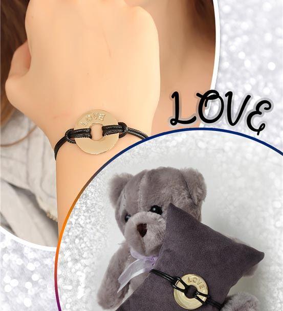 LOVE (Aşk) Mood Bileklik ve Yamalı Ayı Kişiye Özel