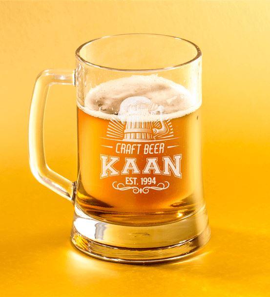 Sevgiliye Doğum Günü Hediyesi Bira Bardağı