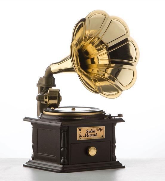 Sevgiliye Hediye İsim Yazılı Nostaljik Müzik Kutus