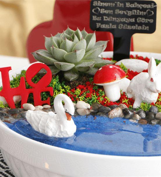 Sevgiliye Özel Salıncaklı Aşk Bahçesi