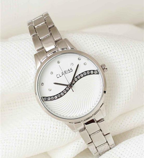 Silver Renk Metal Kordonlu Beyaz Zirkon Taşlı İç T