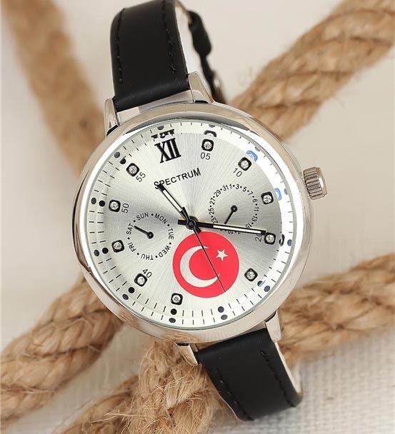 Türk Bayrak Tasarımlı Kadın Kol Saati