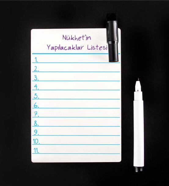 Yazılıp Silinebilen Yapılacaklar Listesi