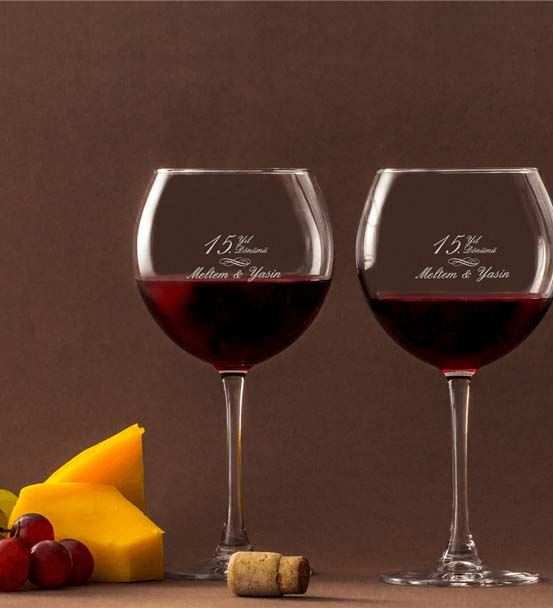 Yıl Dönümü Hatırası Piedmont Şarap Kadeh Seti