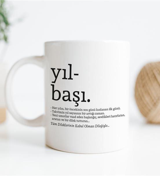 Yılbaşı Kelime Anlamlı Dilekli Kupa